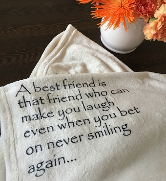 Best Friend Personalized Throw Blanket, wedding party gift, a best friend is...