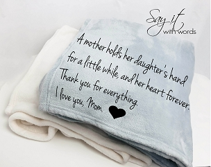 Personalized Custom Throw Blanket for Mom (or Dad)