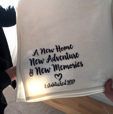 Personalized Throw Blanket for new home, a housewarming, new adventure, or wedding gift