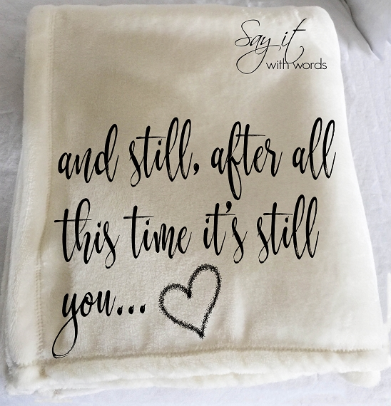 Personalized custom throw blanket for that special someone you love, perfect anniversary gift, blanket about love.