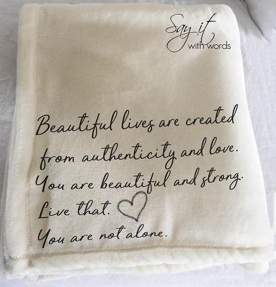 Personalized Custom Throw Blanket for you or a friend, someone who is creating the authentic version of themselves.