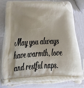 Customizable Throw Blanket for the newlyweds and wedding gift or a housewarming gift. For someone who loves naps!
