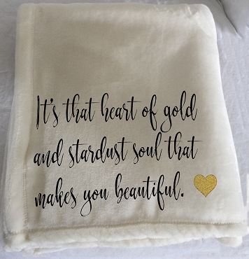 Personalized Custom Throw Blanket for a friend or loved one.  Someone with a heart of gold.