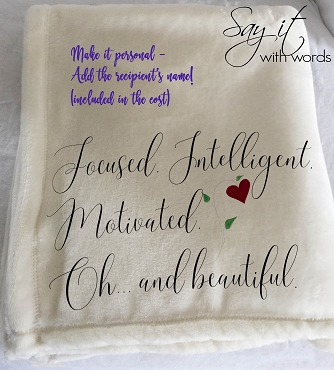 Personalized Custom Throw Blanket for your best friend.