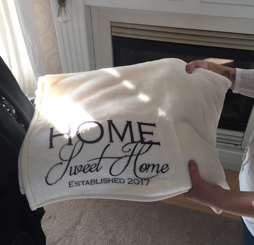 New Home Personalized Throw Blanket, a housewarming or wedding gift