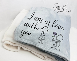 Personalized Custom Throw Blanket for someone you are in love with, an anniversary gift, custom word blanket from Man to Woman