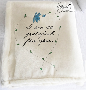 Personalized Custom Throw Blanket for someone special.