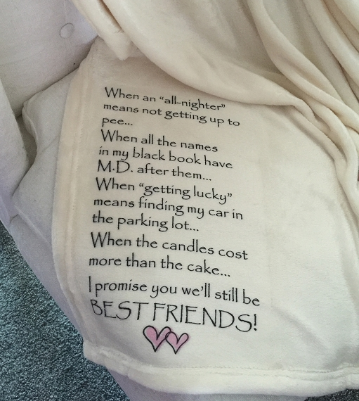 Personalized Custom Throw Blanket for your best friend, as you get older, retired, funny throw blanket