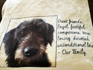 Personalized Custom Throw Blanket for a Pet Lover.