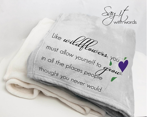 Best Friend Personalized Throw Blanket gift for friend or family member encouraging them to live their dream.