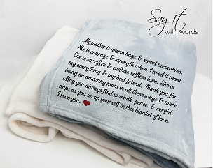 Personalized Custom Throw Blanket for your Mom, my Mom is warm hugs and sweet memories.