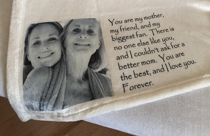 Personalized Custom Throw Blanket for Mom (or Dad), my Mother my biggest fan...