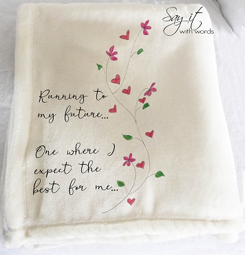Personalized Custom Throw Blanket for someone beginning a new chapter in their life