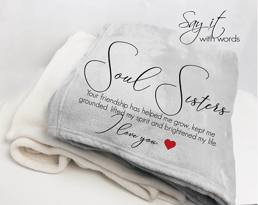 Personalized Throw Blanket for your Soul Sister