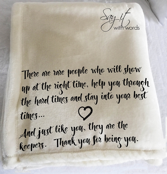 Personalized Custom Throw Blanket for the friend that is always there for you.