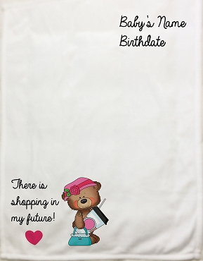 Personalized Baby Blanket with the words