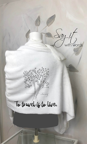Blanket Scarf Personalized for your vacation!  A beautiful fleece handmade blanket scarf to wrap yourself up in at home or on an adventure!