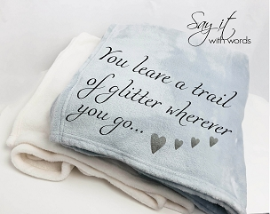 Personalized Custom Throw Blanket for the friend who leaves a little glitter wherever she goes...