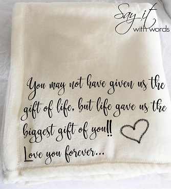 A beautiful personalized custom throw blanket for Step-Dad on Father's Day, or his birthday.