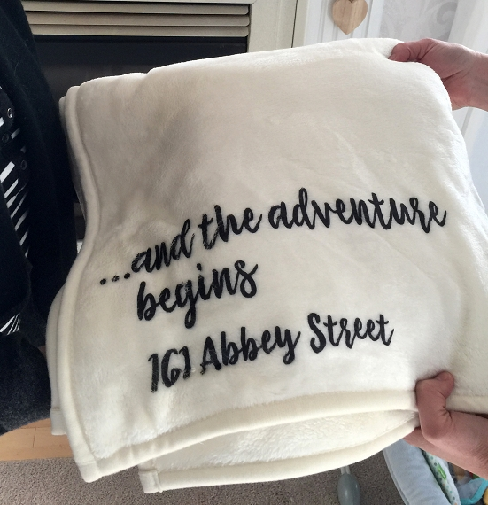 Personalized Custom Throw Blanket for a friend, someone getting married, someone moving, someone beginning a new adventure!