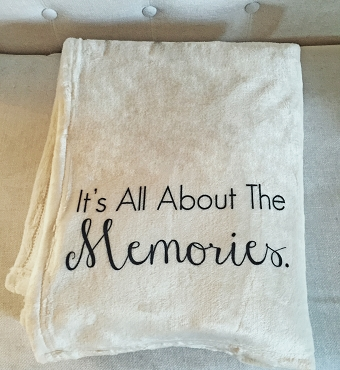 Personalized Custom Throw Blanket to celebrate the memories.