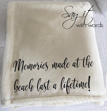 Personalized Custom Throw Blanket for Memories Made at the Beach, vacation memories blanket