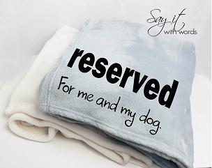 A Funny Personalized Custom Throw Blanket for Dad and his dog, a custom Father's Day gift.
