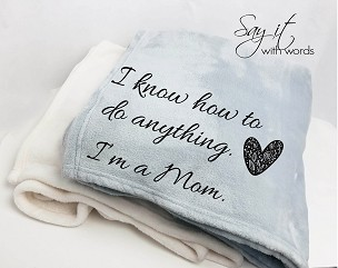 Personalized Custom Throw Blanket for a New Mom, or the Mom who knows how to do everything, Mother's Day gift.